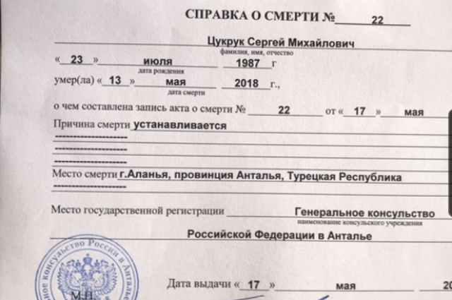 Согласно справки о смерти, причины кончины Сергея устанавливаются.