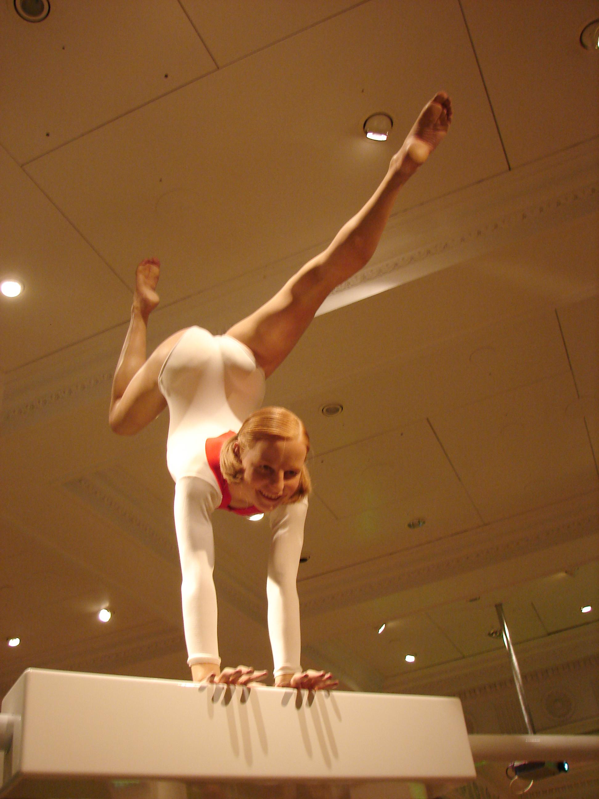 Восковая фигура Ольги Корбут в музее мадам Тюссо в Лондоне