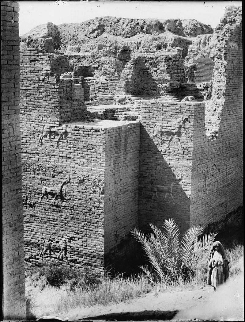 Ворота Иштар. Фотография 1930-х годов.
