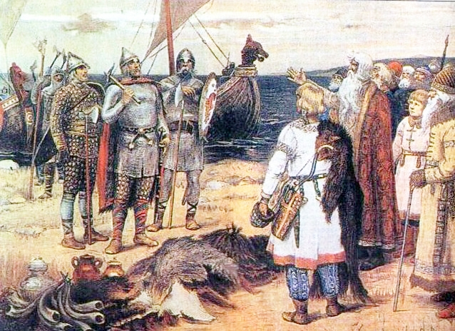 Прибытие Рюрика в Ладогу В. М. Васнецов. XIX век
