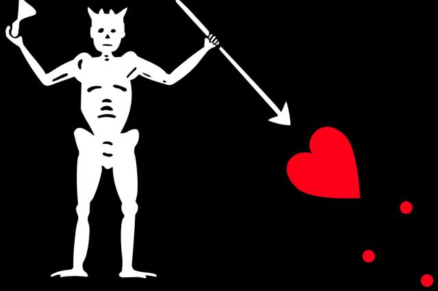 Флаг пиратов Чёрной Бороды