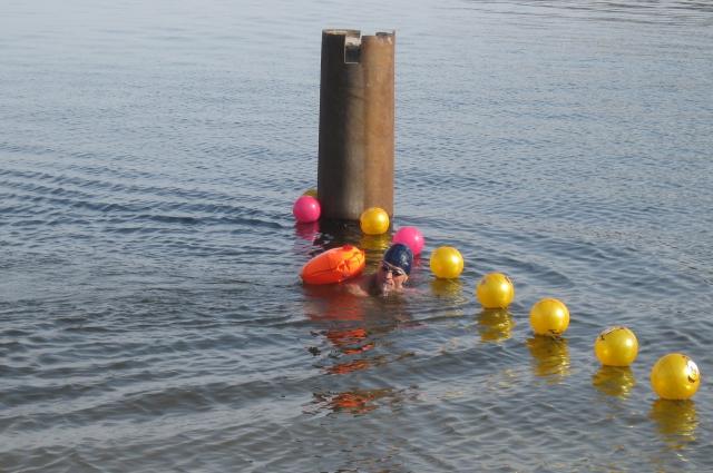 заплыв через Волгу