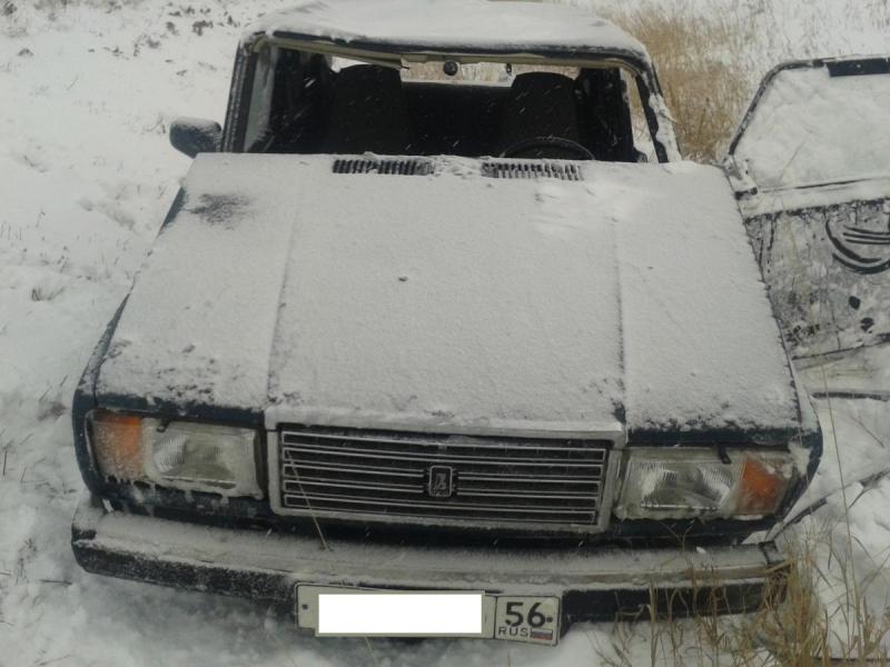 В Соль-Илецком районе «семерка» слетела в кювет.