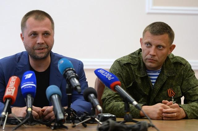 Александр Бородай (справа) и Александр Захарченко.