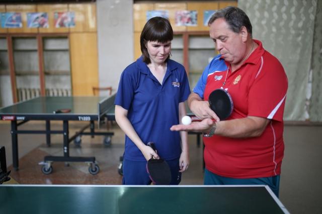 Анжелика Косачева и ее тренер Сергей Созонов