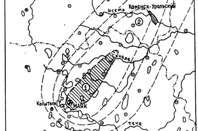 Зона, входящая в Восточно-Уральский радиоактивный след.