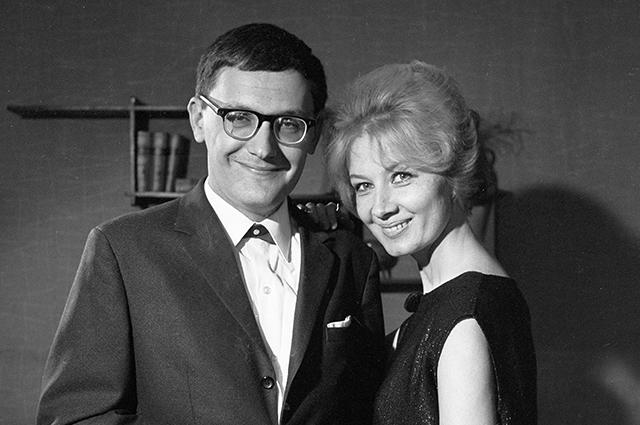 Алла Демидова с мужем Владимиром Валуцким, 1969 год.