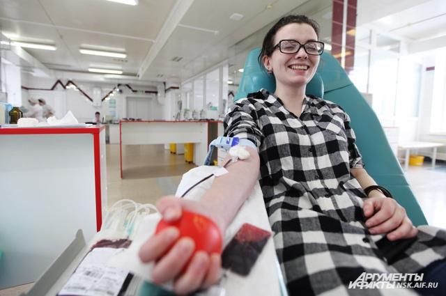 Сдача крови - быстрая процедура, которая занимает всего пять минут