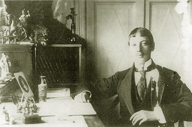 Фотография Николая Гумилёва 1907 года