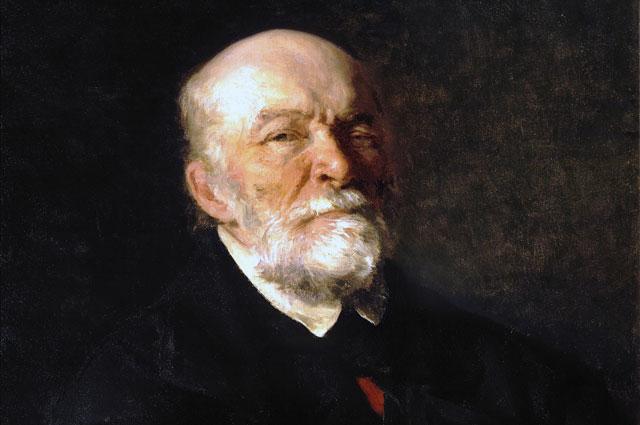 Портрет Николая Пирогова кисти Ильи Репина.