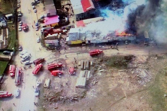 Площадь пожара -  700 квадратных метров.