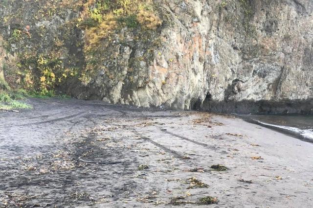 Халактырский пляж утром 4 октября.