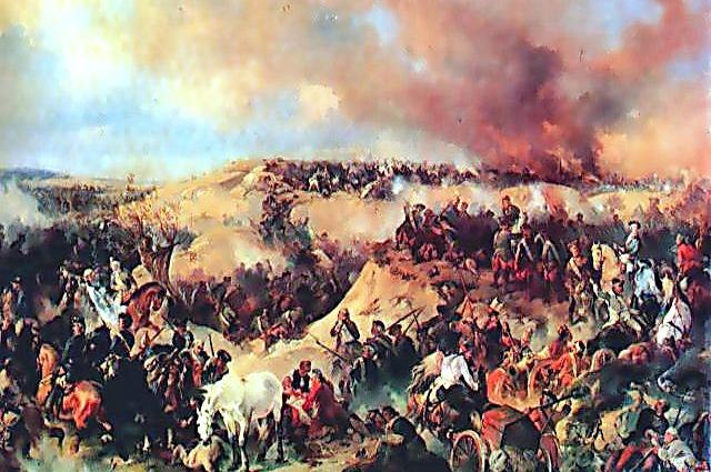 Александр Коцебу. «Кунерсдорфское сражение» (1848)