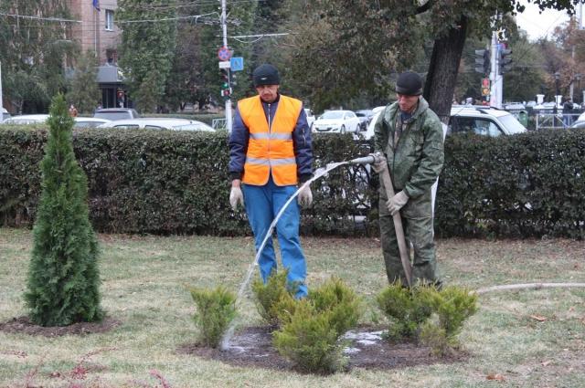 Благоустройство сквера на площади Ленина в Рязани.