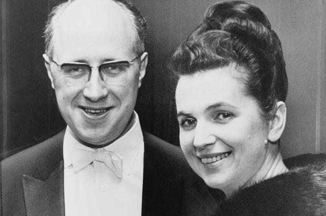 Мстислав Ростропович и Галина Вишневская, 1965.
