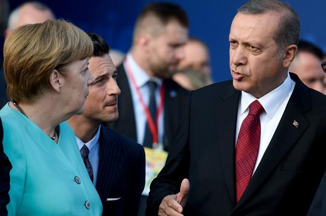 Ангела Меркель и Реджеп Тайип Эрдоган.