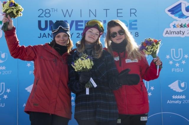 Анастасия Логинова (в центре) «обскакала» всех конкуренток.