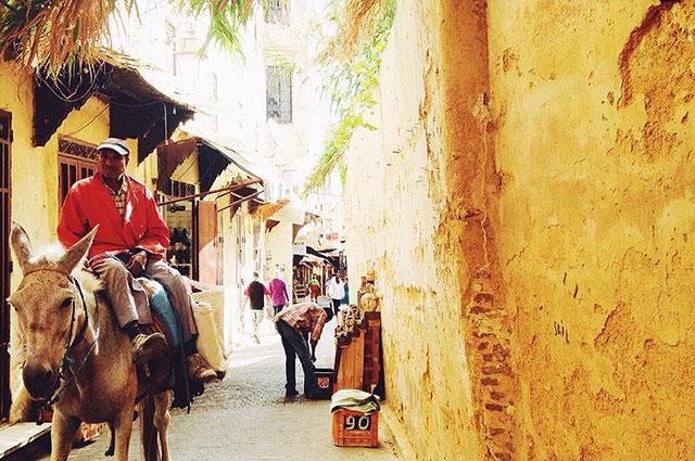 Тесные марокканские улицы полны опасностей.