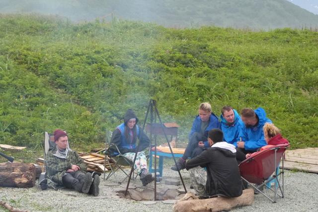 Съёмки фильма о камчатских сёрферах.