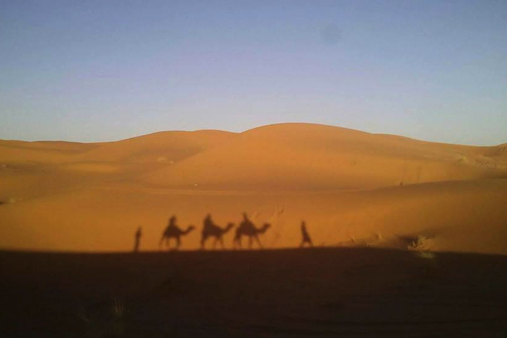 Поход по пустыне.