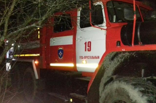 На месте работали семь сотрудников МЧС и два пожарных  автомобиля.