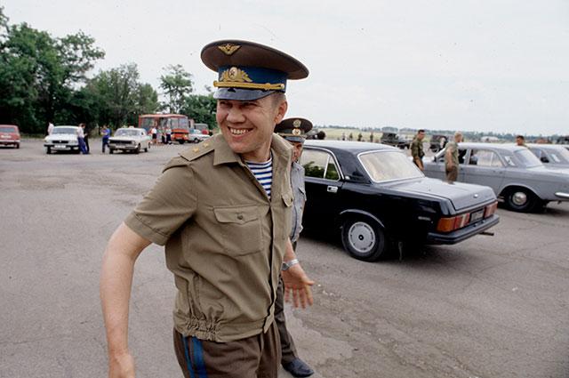 Бывший командующий 14-й Российской армией в Приднестровье, генерал-лейтенант Александр Лебедь.