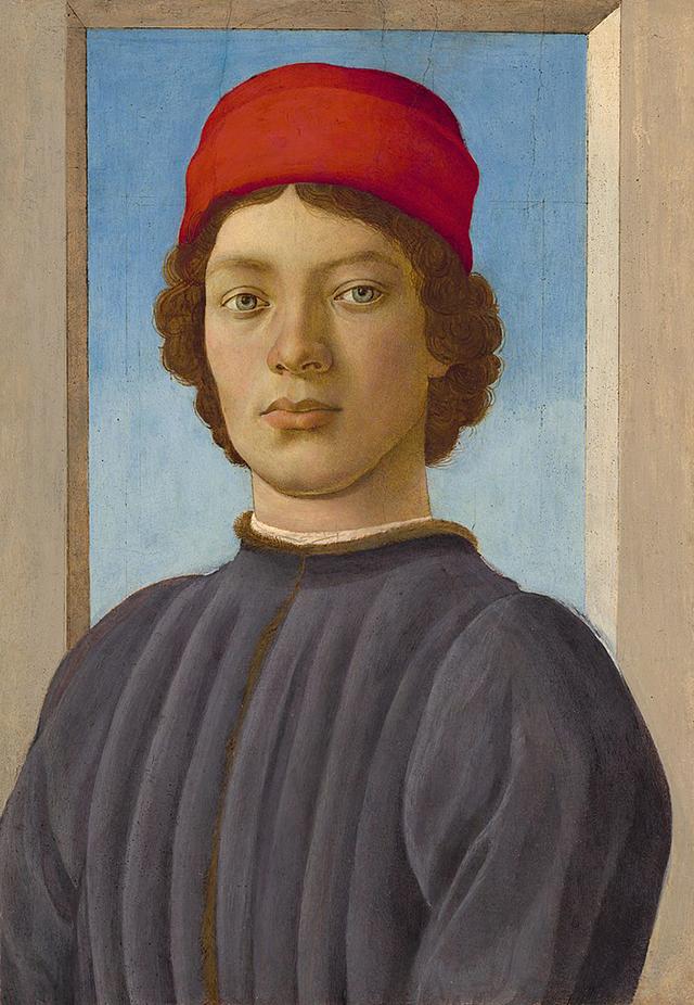 Портрет молодого человека, Филиппино Липпи. ок. 1485