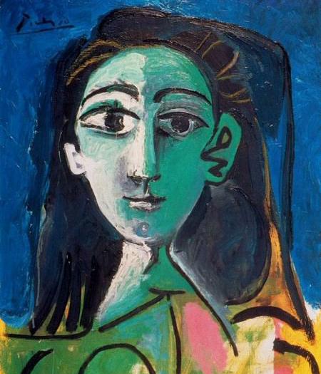 Фрагмент картины «Портрет Жаклин», Пабло Пикассо. 1963