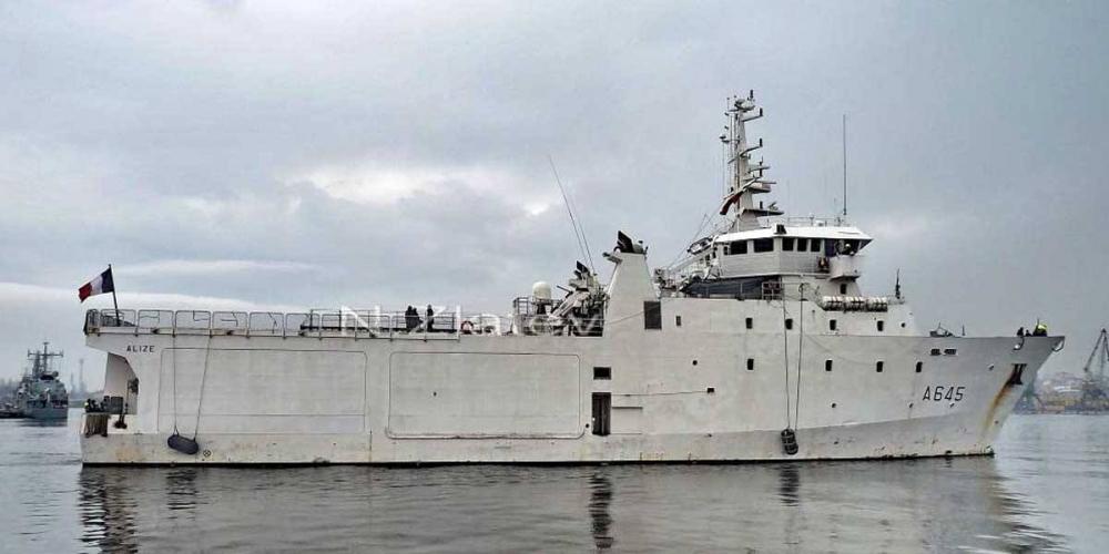 Французский разведывательный корабль.