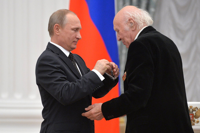 Награждение орденом Почёта. Москва, Кремль, 21 мая 2015 года.