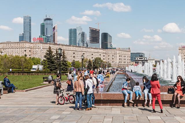 Москва, люди