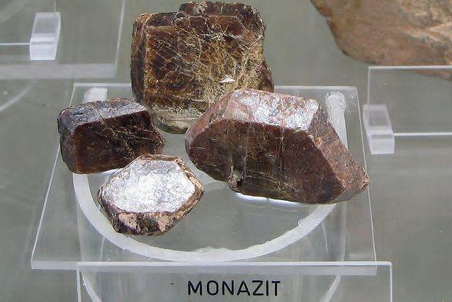 Монацит обычно встречается в виде отдельных кристаллов.