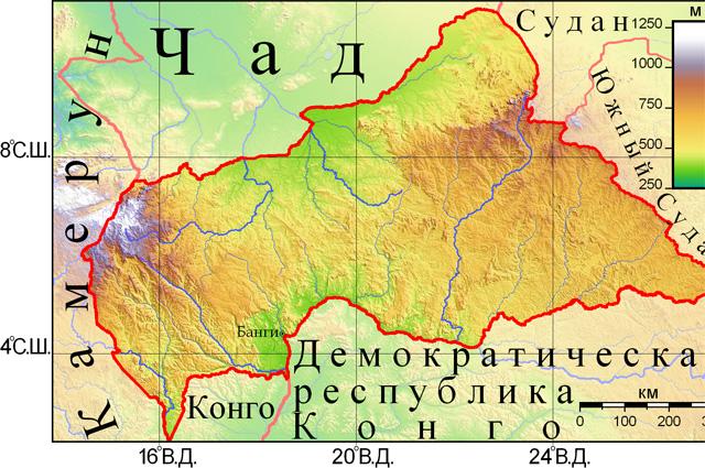 Центральноафриканская Республика.