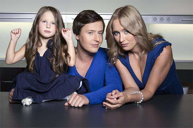 Певец Витас с женой Светланой и дочерью Аллой. 2016 г.