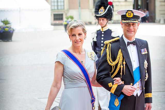Принц Эдуард, граф Уэссекский с женой