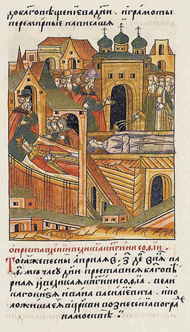 Смерть и погребение великой княгини Софьи Палеолог.