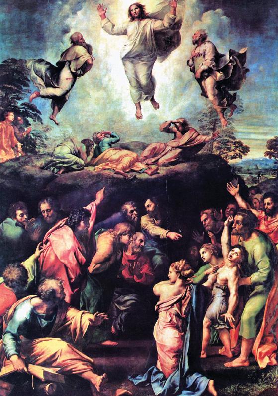 «Преображение» (1518-1520) было поставлено у гроба Рафаэля: «При виде живой картины у мёртвого тела надрывалась душа».