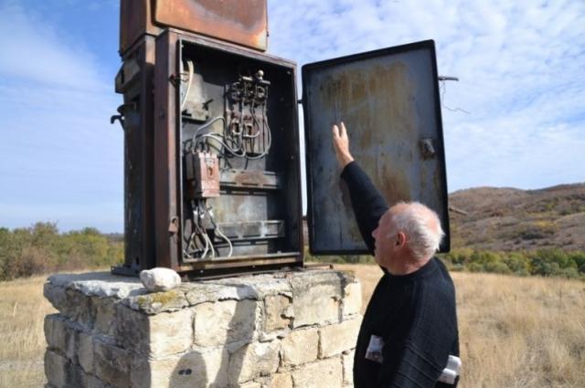 Трансформатор в селе.