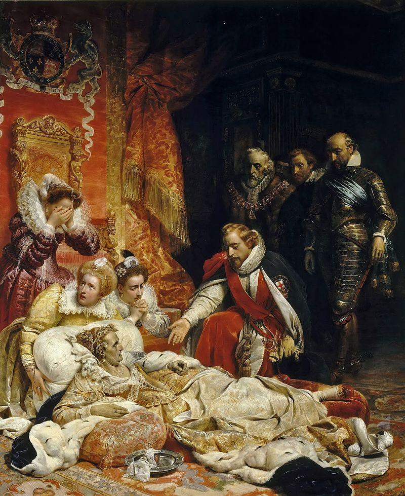 Смерть королевы Елизаветы I.