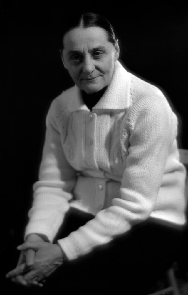 Евдокия Юрьевна Урусова (1906-1996), артистка Московского драматического театра им. М. Н. Ермоловой. 1967 г.