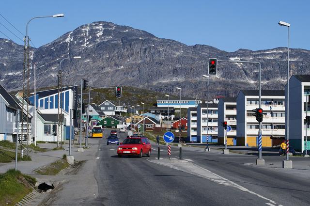 Нуук, столица Гренландии, центральная часть.