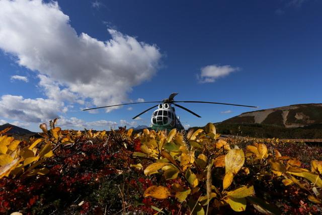 Долина гейзеров, вертолёт