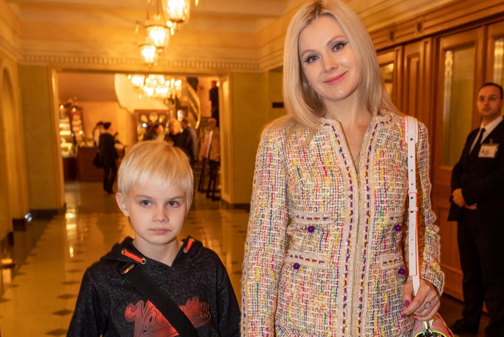 Натали с сыном Анатолием.