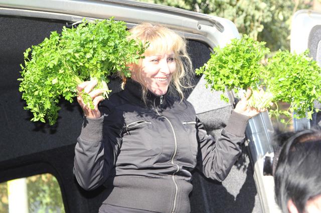 На ярмарке в Ростове-на-Дону всегда предложат свежую зелень с грядки