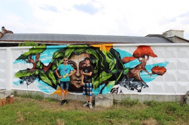работа, заанявшая 1 место в конкурсе граффити.