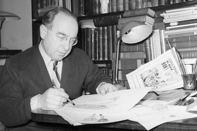 Художник Борис Борисович Ефимов, лауреат двух Сталинских премий второй степени (1950, 1951).