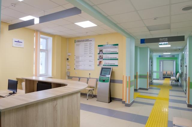 Ресепшн амбулатории.