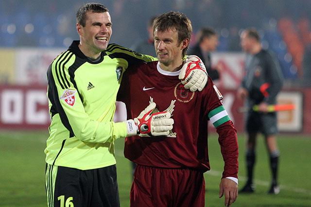 Мандрыкин и Сергей Семак, 2008 г.