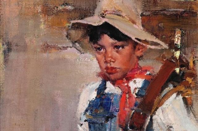 Николай Фешин, «Маленький ковбой». Фрагмент