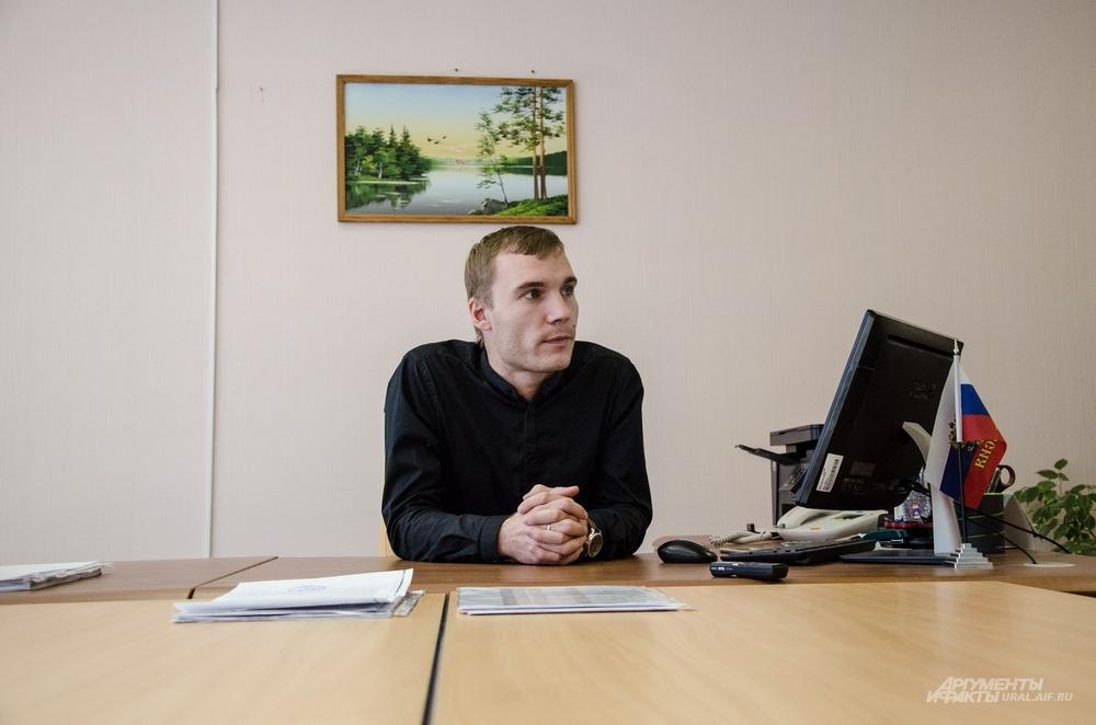 Евгений Сергунин в многонациональной школе новенький: с сентября он занимает должность директора.